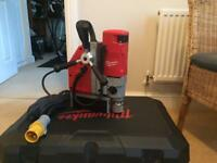 110v Milwaukee Press drill with electro magnet