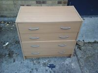 Light wood 4 draw chest