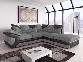 **14-DAY MONEY BACK GUARANTEE!** - Dino Italian Fabric Corner Sofa Suite - SAME/NEXT DAY DELIVERY!