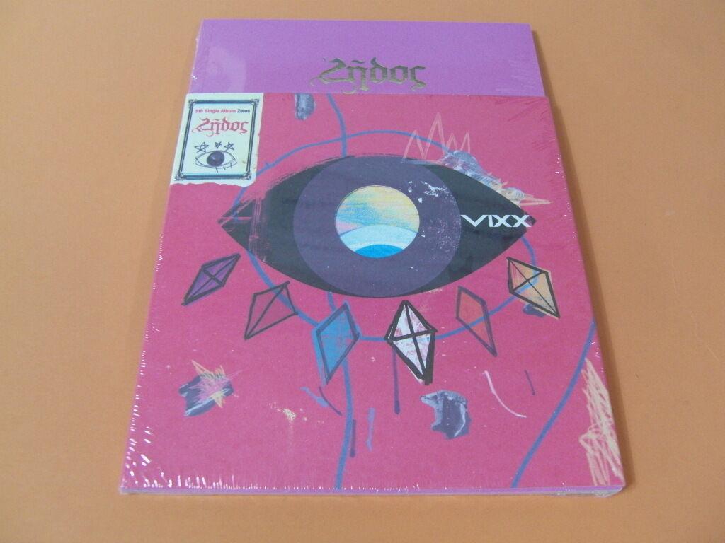 Vixx - zelos cd w/photo booklet (68p) + photo card + unfold poster k-pop