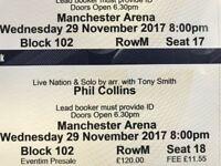 Phil Collins 2 tickets Manchester MEN 29th November
