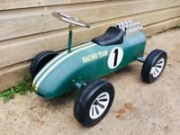 Vintage Children's Ride On Racing Car British Green