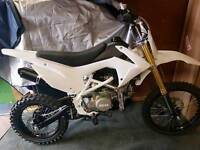 White CRF110 YX140 Oil Cooled Big Wheel