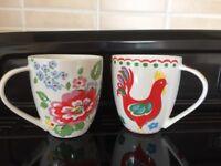 Two large Cath Kidston mugs