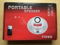 AS NEW Boxed Portable iPhone iPad MP3 PC CD DVD Player Dock Speaker