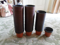 PLANT POTS NEW 12cm across 9 cm depth