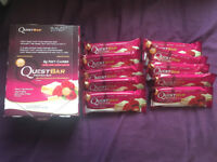 Quest protein bars - White Chocolate Rasberry - 10 Bars - 23/Aug/2018 Expiry