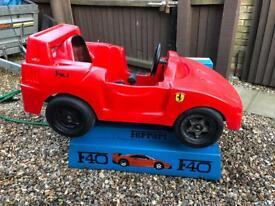 Ferrari F40 childs ride fairground ride rocker