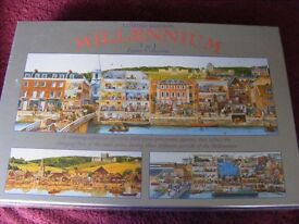 W H SMITH LIMITED EDITION MILLENNIUM 3 IN 1 1000 PIECE JIGSAW PUZZLES
