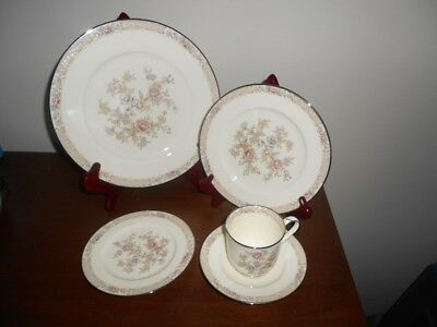 Noritake Imperial Garden China 5 Piece Place Setting S  Pristine Condition