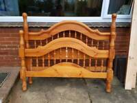King size pine bed frame REDUCED REDUCED