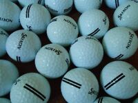 125 Srixon 2-piece double banded Premium Range Golf Balls.