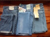 BRAND NEW 3 pairs of womens jeans