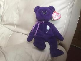 Princess Ty Beanie Baby Bear (Diana Princess of Wales Memorial Fund bear)