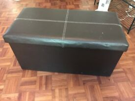 Storage box - faux leather