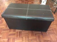 Storage box - faux leather