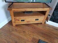 Solid Oak Tv unit (Harveys Toulouse)