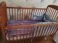 baby cot for £20 (up to 4 years old)+free mattress and pillow