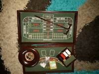 Never used 4 in 1 wooden casino set