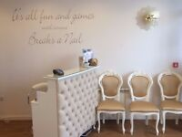 8 x White and Gold Chairs - Salon or Home Use