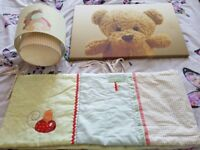 Nursery Lampshade, Cot Bumper and Picture
