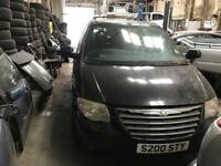 Chrysler grand voyager breaking for spares parts black 2006