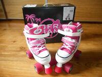 SFR Miami Adjustable Quad Skates (Pink) Size UK 3-6