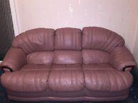 3 peice leather sofa set