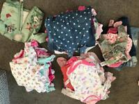 0-3 months baby girls bundle of clothes