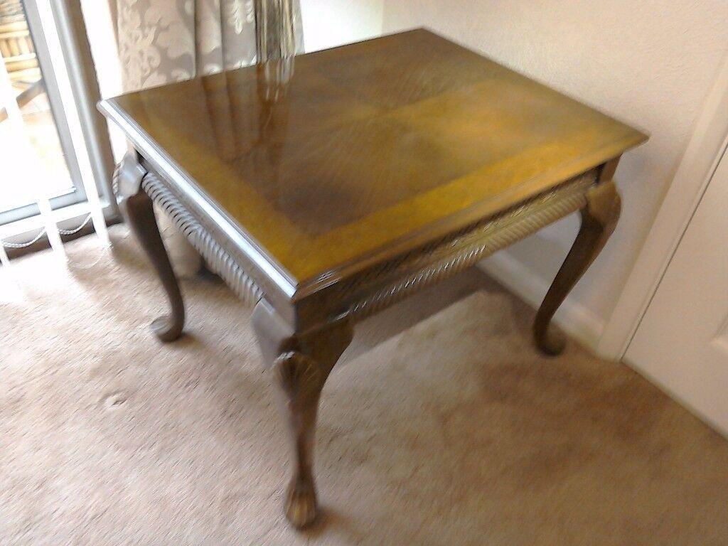 Mahogany Lamp/Coffee Table