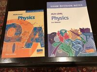 A Level physics books.