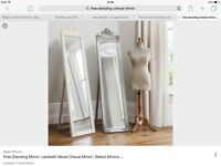 New Cheval Full Length Free Standing Mirror, boxed