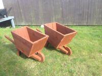 Matching Wheel Barrow Planters