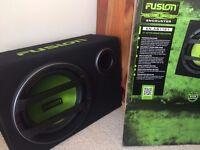 "Fusion 12"" Active Subwoofer (Sub Woofer) Enclosure EN-AB1121 With Built-in Amp"