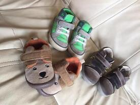 Boys baby shoes sizes 4-4 1/2 & clothes