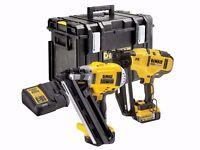 DeWalt DCK264P2 18v XR 1st Fix Nailer 2nd Fix Nailer 2 x 5.0Ah Li-ion Kit Box