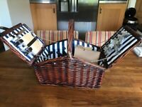 Luxury Picnic Basket in Wicker