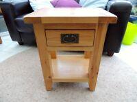 Petit Solid Oak Side/Bed Table