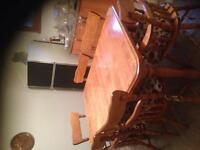 Dinning table plus 2 coffee tables and 1 tv Stand