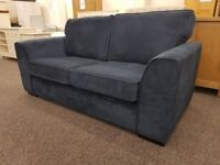 Display Item Dark Blue 2.5 Seater Fabric Sofa Bed **CAN DELIVER**