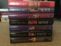 Terry Pratchett x 7 hardback books