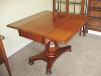 Antique Late Victorian Mahogany Drop-Leaf Breakfast or Dining Table