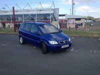 Vauxhall Zafira 7 seater Diesel 2005 Plate