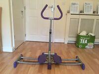 Foldable leg exercise machine