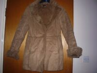 WARM FUR, V, GOOD CONDITION,, SIZE 8-10, + FREE HAT AND SCARF