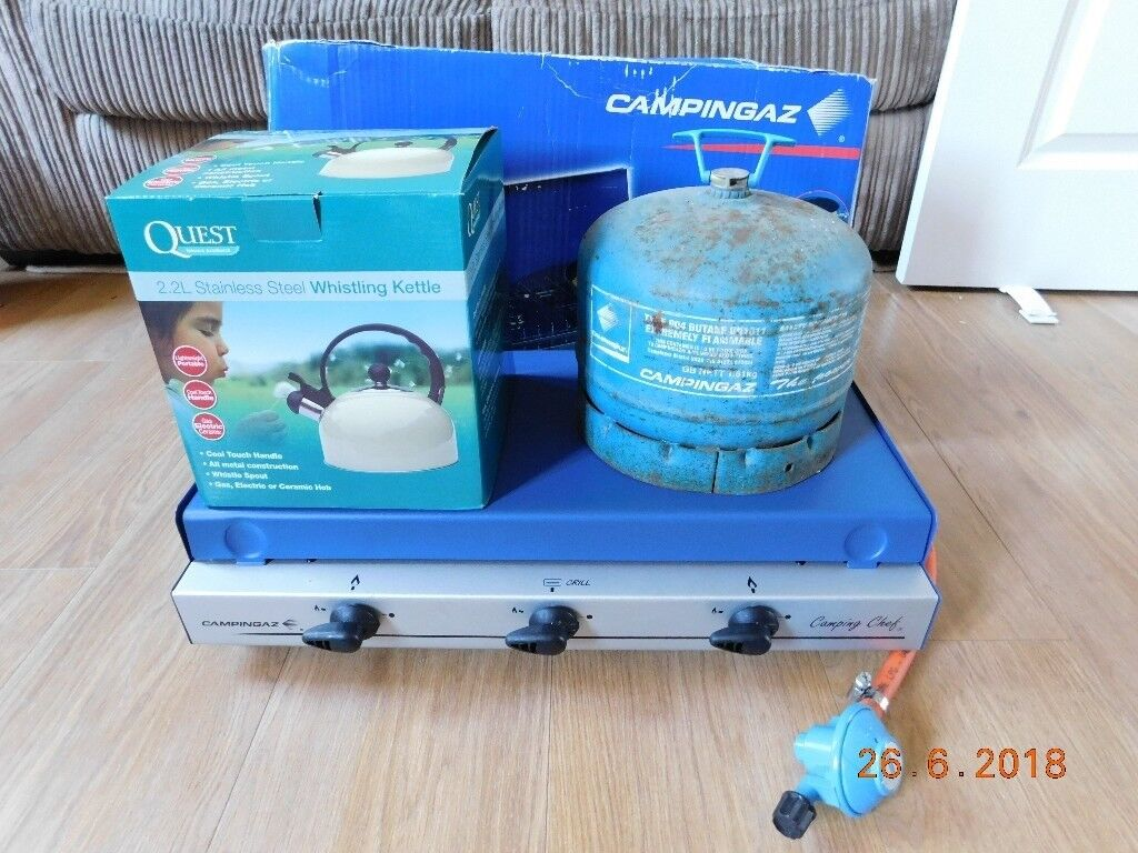 Camping Gear: Campingaz Camping Chef with Gas Canister & Band New ...