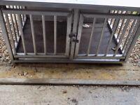 Aluminium car / home twin dog cage
