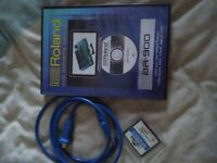 Boss BR 900 CD instruction video, memory card and patch cable.