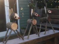 Handmade reindeers