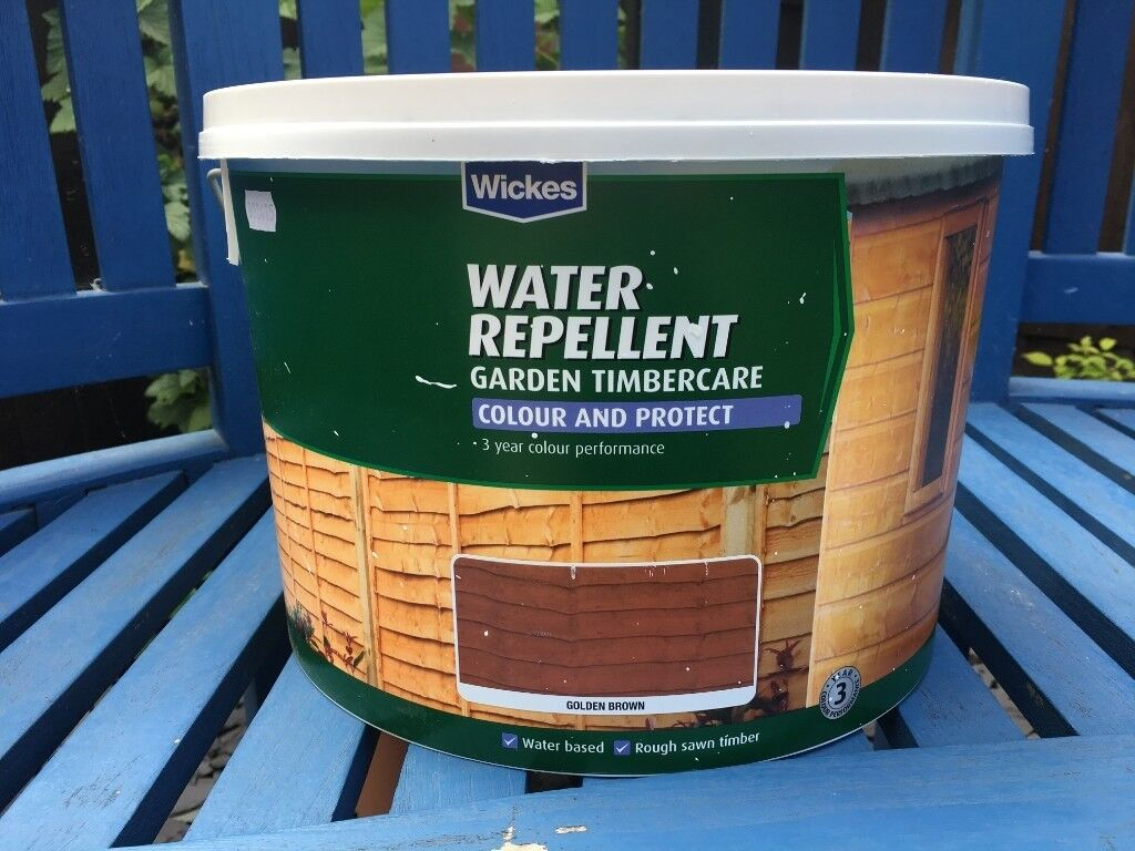 Wickes Fence Shed Paint Golden Brown Water Repellant 10 Litres